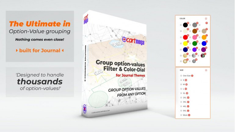 Group OptionValues Filter/ColorDial for Journal 2x OC 2.3.x