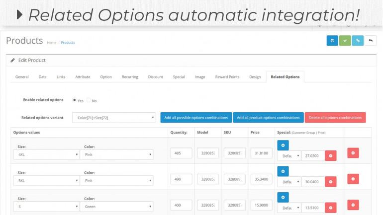 Option Combinations Extension for MultiScraper Pro