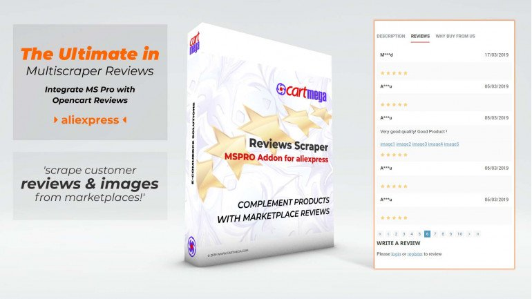 Reviews Extension (Aliexpress) for MultiScraper Pro