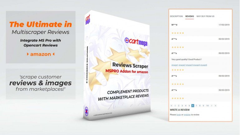 Reviews Extension (Amazon) for MultiScraper Pro