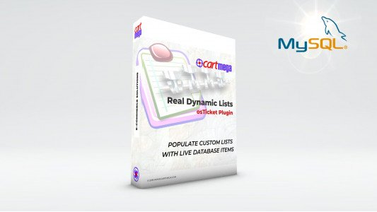 Real Dynamic Lists MySQL for osTicket