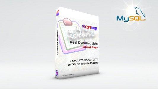Real Dynamic Lists MySQL for osTicket