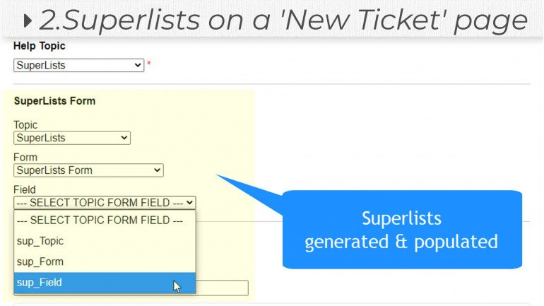 Superlists for osTicket (Ajax Super Custom Lists)